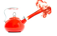 Red hot Tea Pot